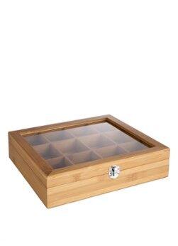 Bredemeijer Boîte à thé en bambou 12 compartiments