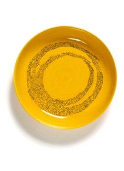 Serax Assiette à petit-déjeuner FEAST Sunny Yellow Swirl-Dots 22cm