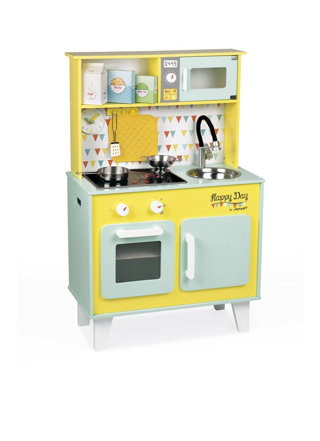 janod Kitchenette en bois Happy Day - Jaune