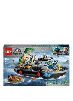 Lego Évasion par bateau d'ensembles de construction dinosaures Baryonyx -76942