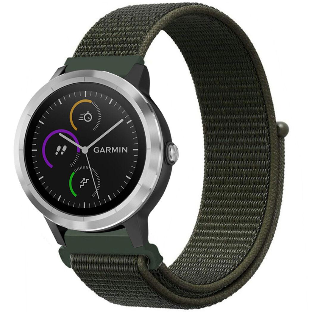 iMoshion Bracelet en nylon pour le Garmin Venu / Vivoactive 3 / Forerunner 245 - Vert