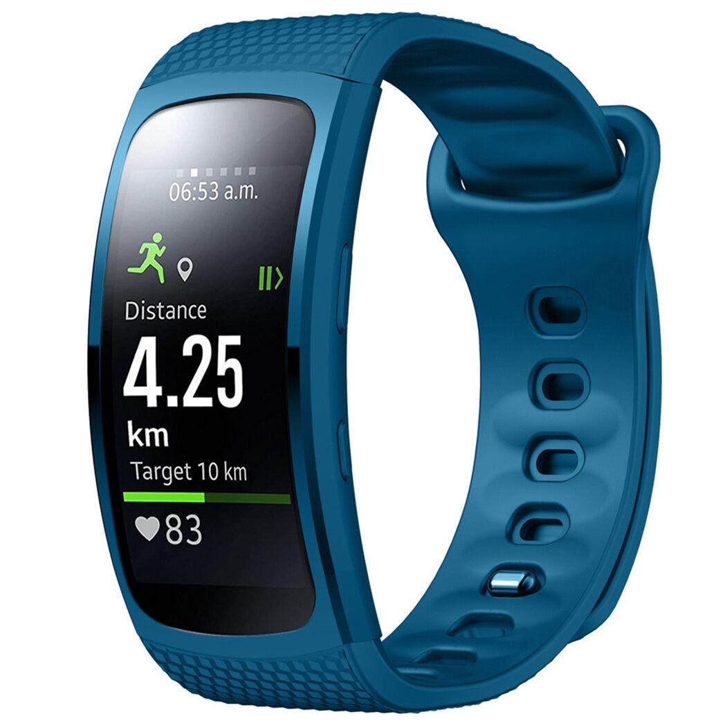iMoshion Bracelet silicone pour le Samsung Gear Fit 2 / 2 Pro - Bleu