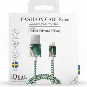 iDeal of Sweden Fashion Lightning vers câble USB - 1 mètre - Golden Jade Marble - Publicité