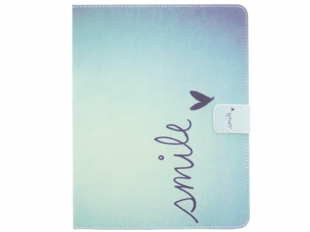 Coquedetelephone.fr Étui à rabat silicone design pour iPad 2 / 3 / 4 - Smile