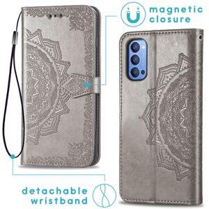 iMoshion Etui de téléphone portefeuille Mandala Oppo Reno4 5G - Gris - Publicité