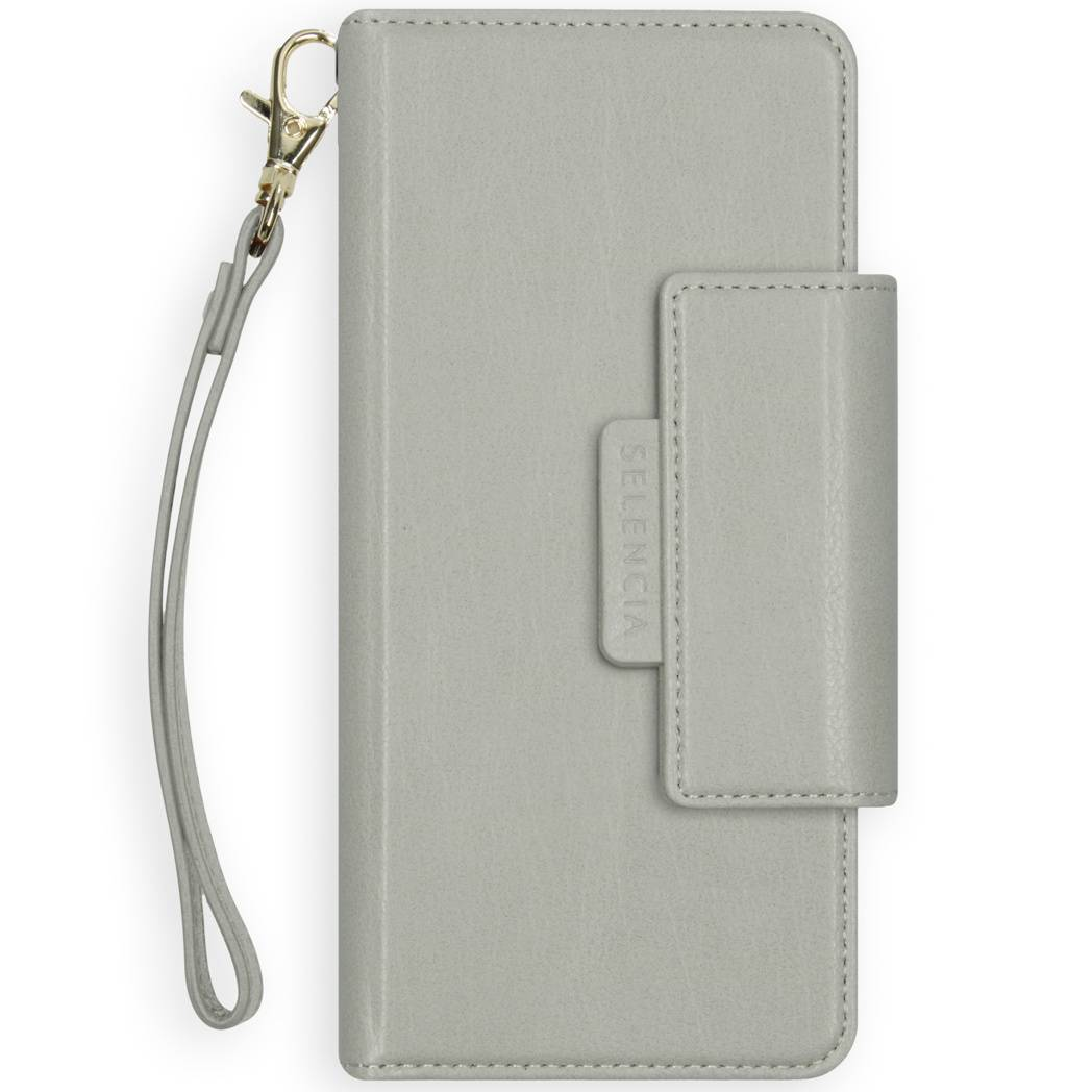 Selencia Étui de téléphone portefeuille amovible en cuir végétalien 2-en-1 Surya iPhone Xr