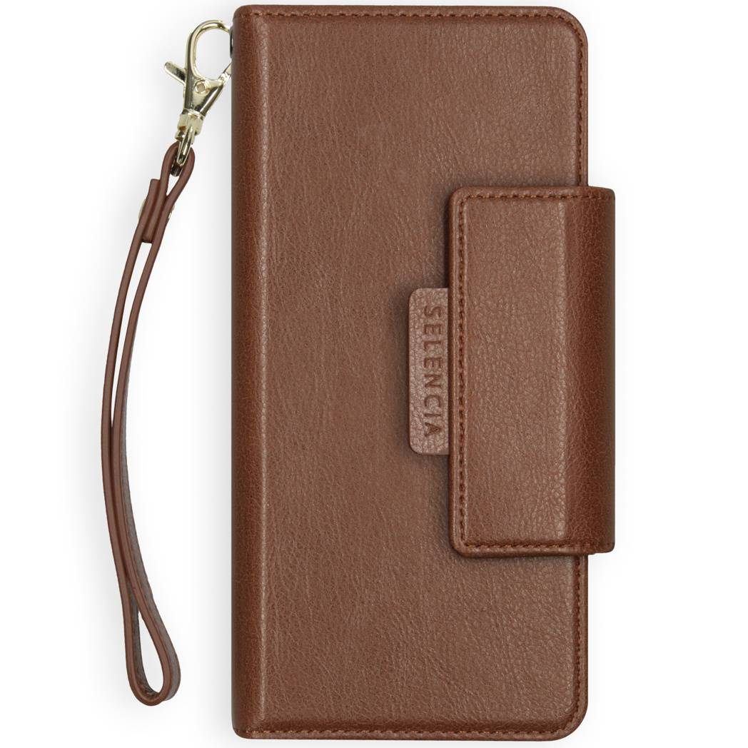 Selencia Étui de téléphone portefeuille amovible en cuir végétalien 2-en-1 Surya Galaxy S20