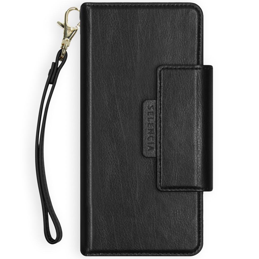 Selencia Étui de téléphone portefeuille amovible en cuir végétalien 2-en-1 Surya Galaxy A71