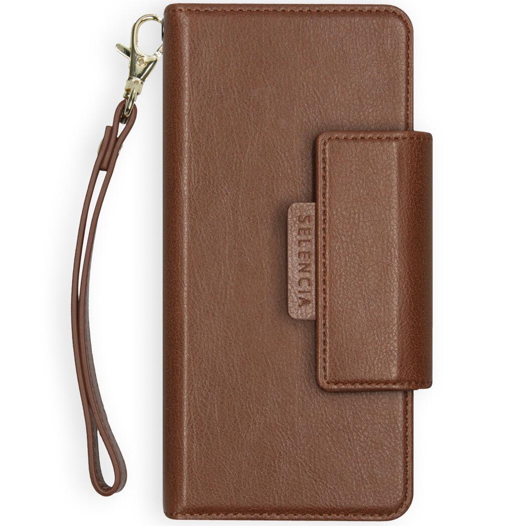 Selencia Étui de téléphone portefeuille amovible en cuir végétalien 2-en-1 Galaxy A50 / A30s