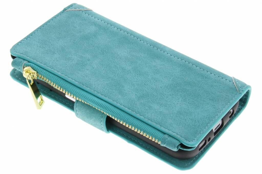 Coquedetelephone.fr Porte-monnaie de luxe pour le Samsung Galaxy S7 Edge - Turquoise