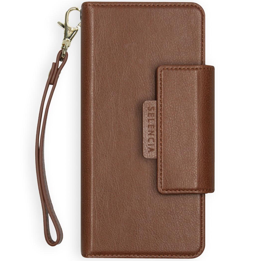 Selencia Étui de téléphone portefeuille amovible en cuir végétalien Surya iPhone 12 Mini