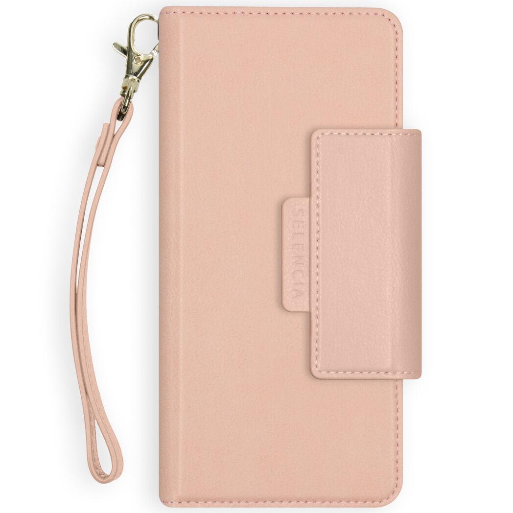 Selencia Étui de téléphone portefeuille amovible en cuir végétalien Surya iPhone 12 (Pro)