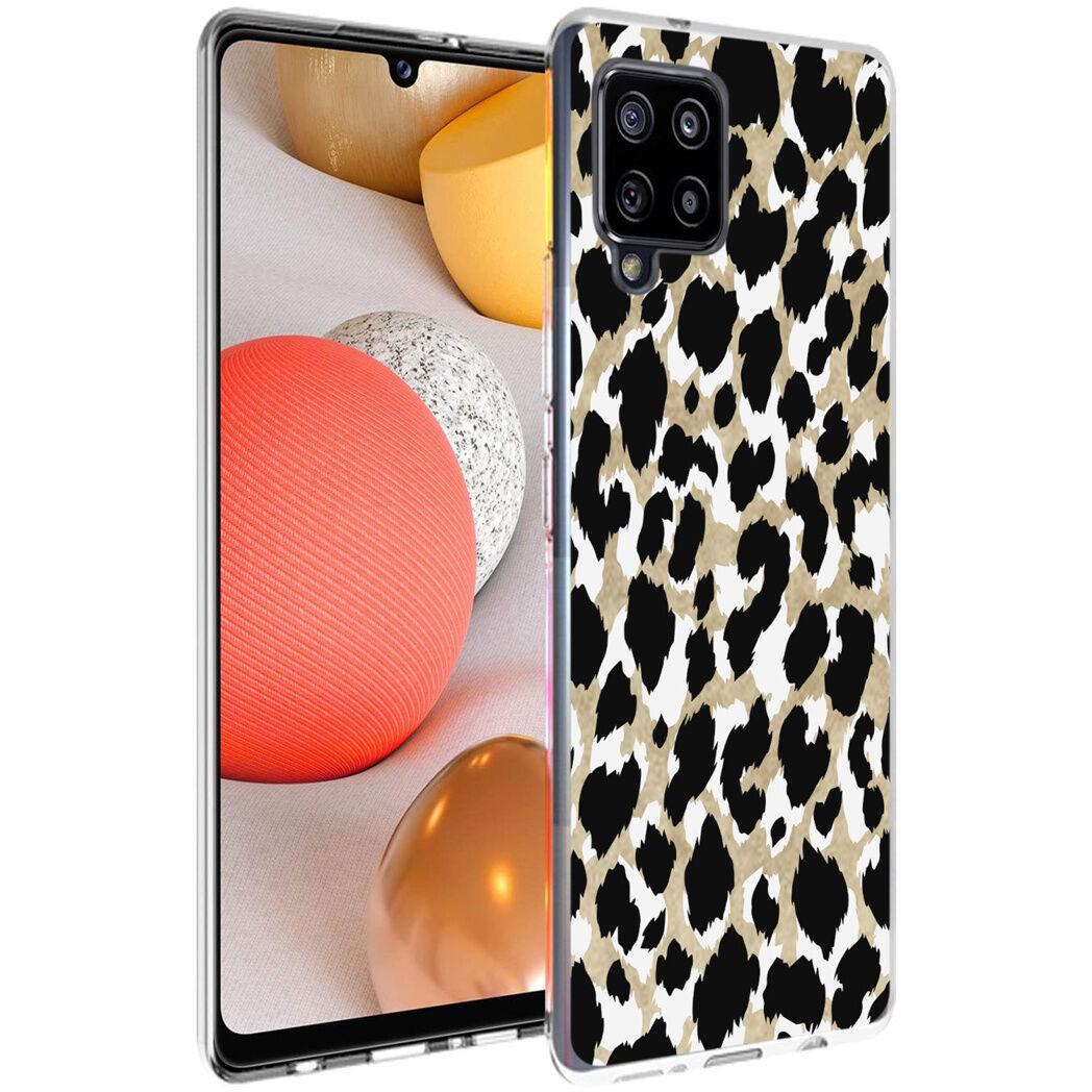 iMoshion Coque Design pour le Samsung Galaxy A42 - Léopard - Dorée / Noir