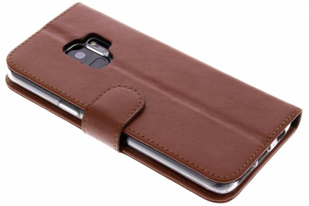 Valenta L'étui de téléphone Classic Luxe pour le Samsung Galaxy S9 - Brun