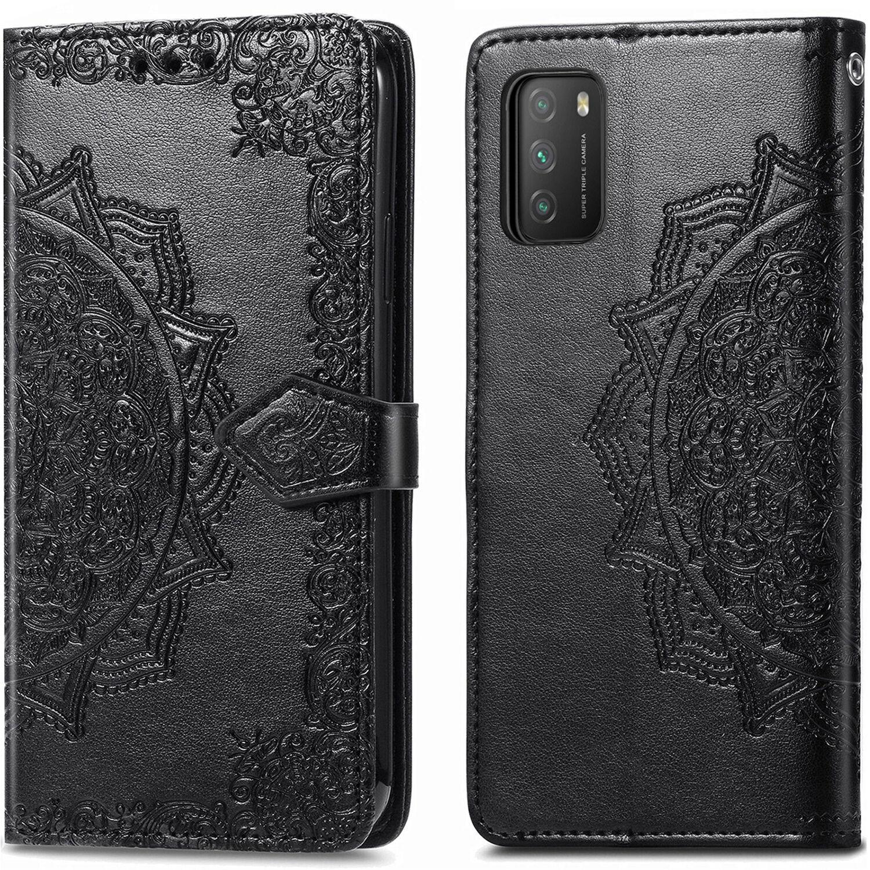 iMoshion Etui de téléphone portefeuille Mandala pour le Xiaomi Poco M3 - Noir