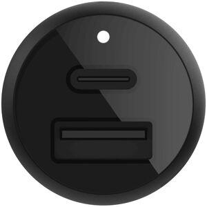 Belkin Boost↑Charge™ USB-C & USB Car Charger - 30W - Noir - Publicité