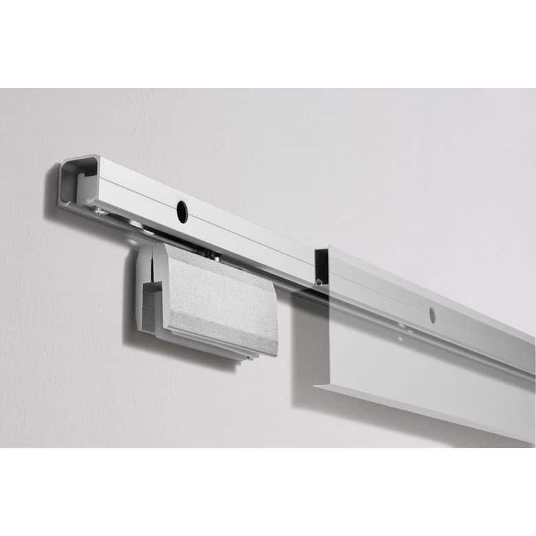 Lapeyre Système en applique 1er prix pour porte verre 200,5 x 82,5 cm