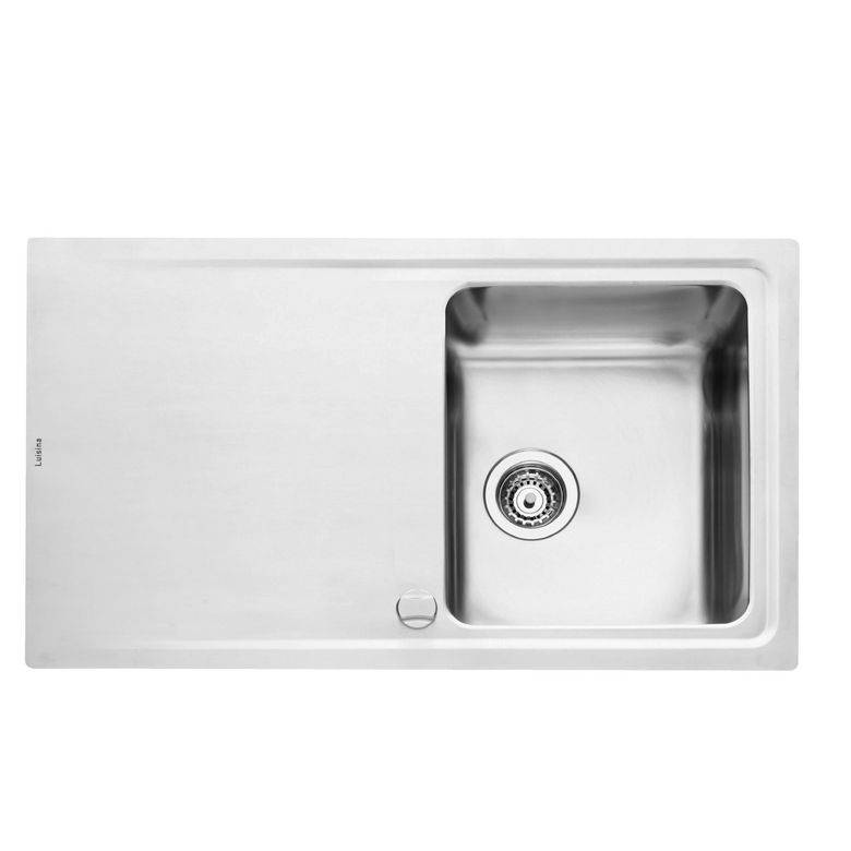 Luisina Evier inox microstructuré CYMBALE 1 bac H.51 x L.87