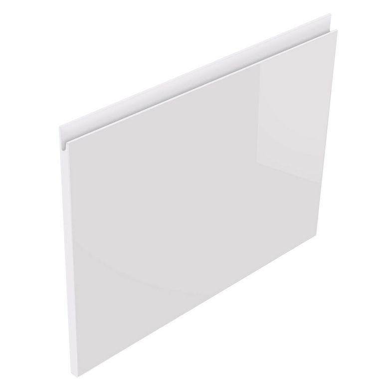 Lapeyre Façade de tiroir H48 CREAMIX avec prise de main bois clair l.60