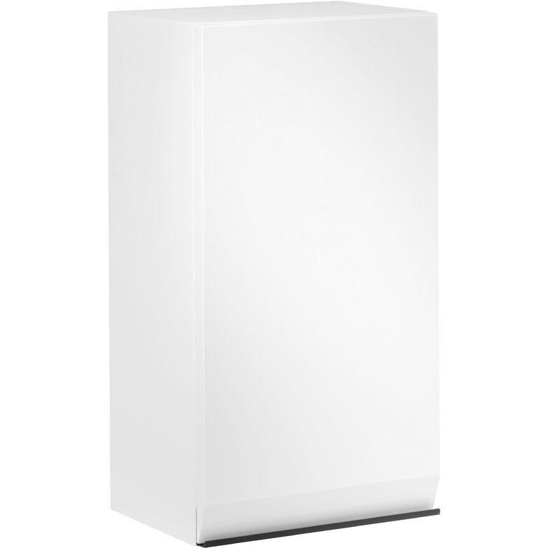 Lapeyre Demi-colonne YTRAC Blanc/Bois 1 porte ouverture à gauche L.30