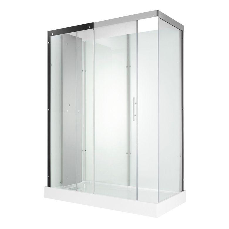 Kinedo Cabine de douche MOONLIGHT carrée coulissante sans robi. H.212 x l.120 x P.90