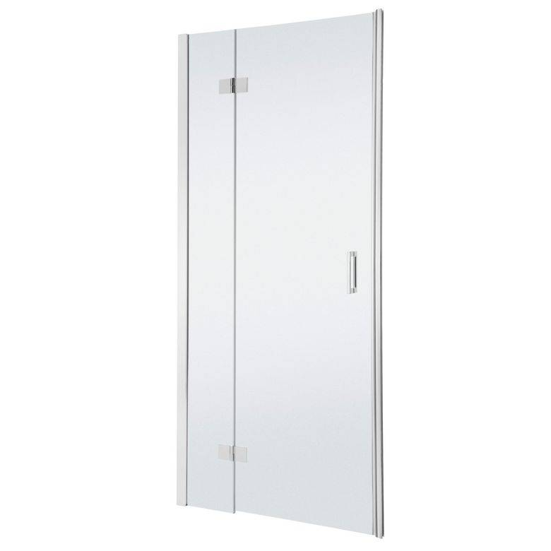 Schulte Porte de douche PALACE gauche pivotante 2 parties H.200 x l.98/101 chrome