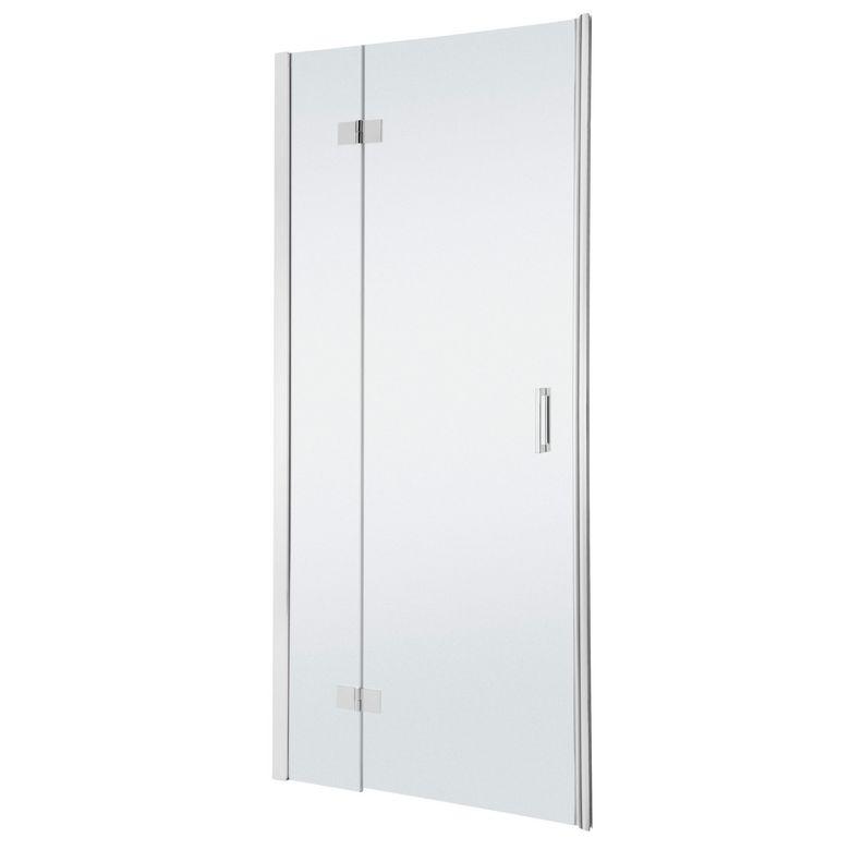 Schulte Porte de douche PALACE droite pivotante 2 parties H.200 x l.88/91 chrome