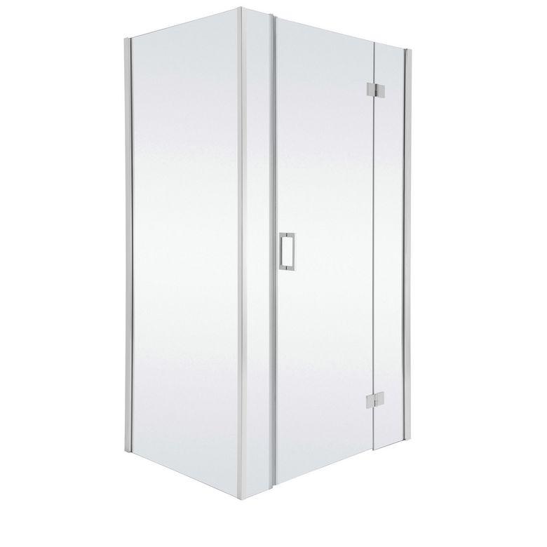 Schulte Porte de douche PALACE droite pivotante 3 parties H.200 x l.177/181 chrome