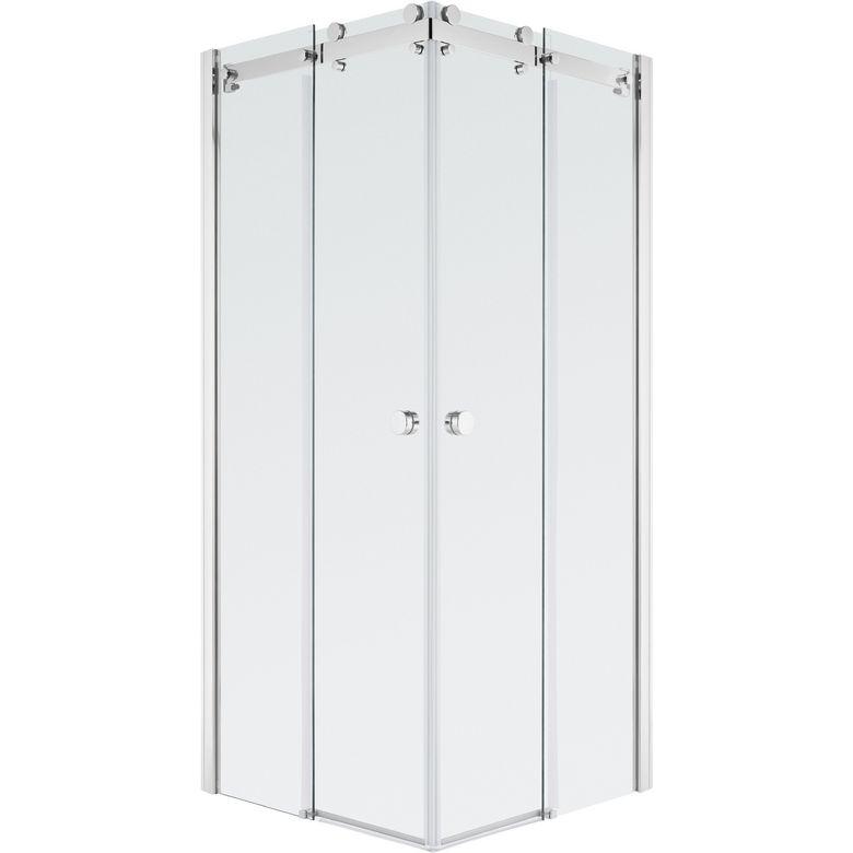 Schulte Porte de douche PALACE angle carré coulissant H.200 x l.97/99 chrome