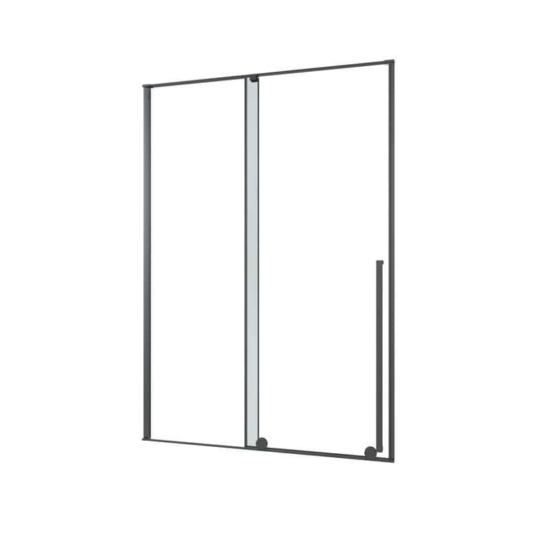 Lapeyre Porte de douche DURANCE coulissante H.200 x l.140 gche verre transparent noir