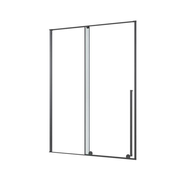 Lapeyre Porte de douche DURANCE coulissante H.200 x l.120 gche verre gris chrome