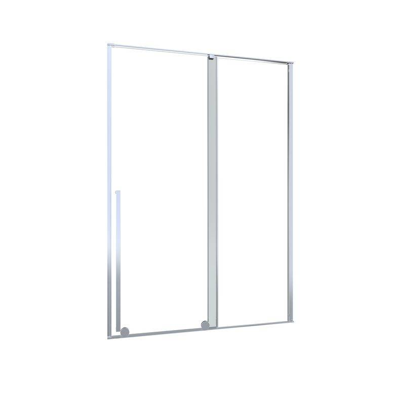 Lapeyre Porte de douche DURANCE coulissante H.200 x l.140 dte verre gris chrome