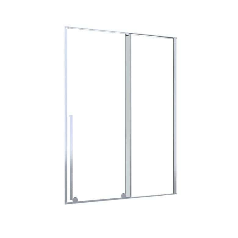 Lapeyre Porte de douche DURANCE coulissante H.200 x l.120 dte verre transparent noir