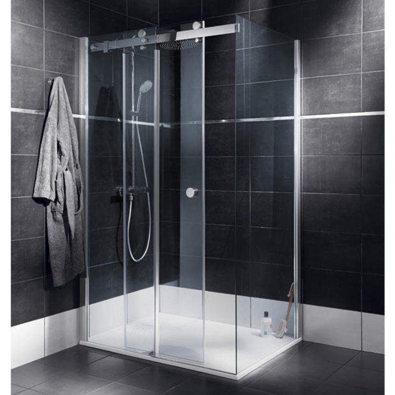 Schulte Porte de douche PALACE coulissante 2 panneaux H.200 x l.138/140 chrome