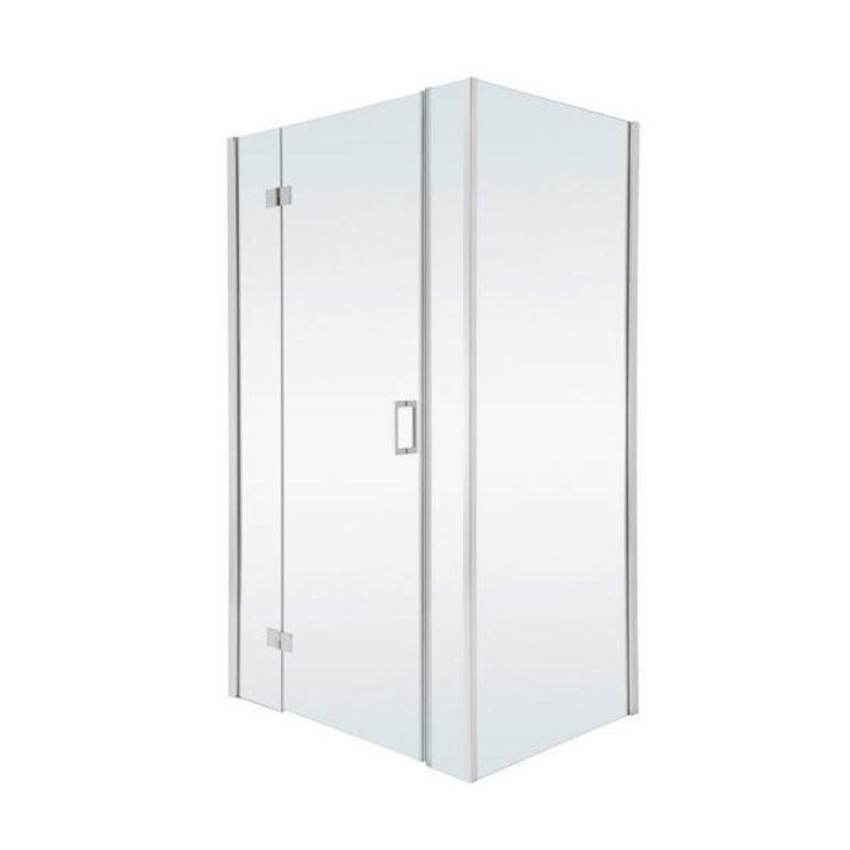 Schulte Porte de douche PALACE gauche pivotante 3 parties H.200 x l.157/161 chrome