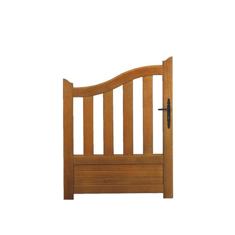 Lapeyre Portillon bois CANNET incurvé avec accessoires fixes 130 x l.100 droite