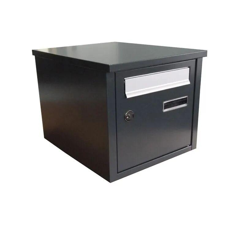 Lapeyre Boîte aux lettres acier 2 portes noir (RAL 9005)