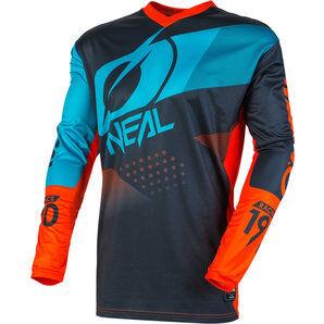 O'Neal Element Factor maillot en jersey Gris Orange Bleu O'NEAL - XL