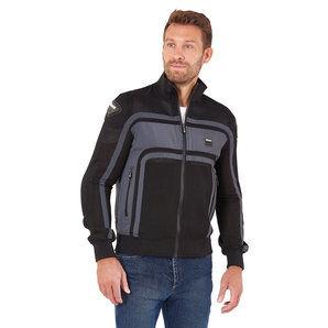 Blauer H.T. Blauer Easy Rider Air veste text. homme pour Moto Noir Gris H.T. - XXL