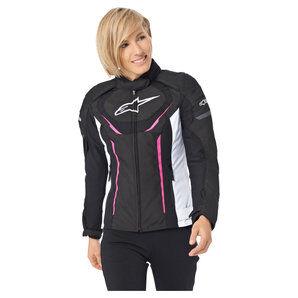 Alpinestars Stella T-Jaws V3, veste textile femme pour Moto Noir Blanc Berry alpinestars - L