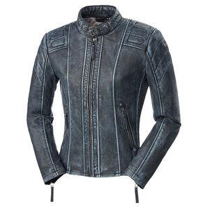 Cafe Racer Fashion IV veste cuir femme Noir Bleu Métallique - 40