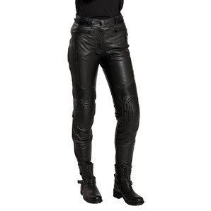 Cafe Racer Timeless IV femmes pantalon combinaison cuir pour Moto Noir - 34
