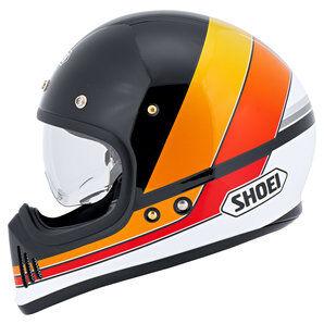 Shoei Ex-Zero casque intégral Equation TC-10 Noir Orange Rouge Blanc - S