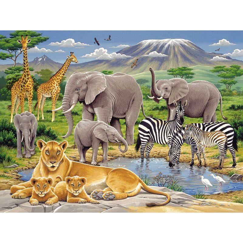 Bureau et consommables Puzzle XXL 200 pièces les animaux d'Afrique