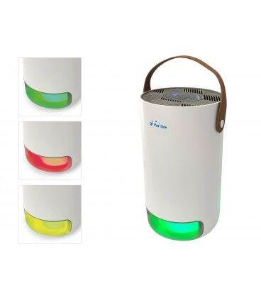 Mobelium Purificateur d'air avec filtre hepa, charbon actif, lampe UV et ioniseur, utilisation 14m2, air frais 40