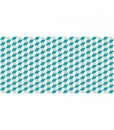Mobelium Tapis De Vinyle Géométrique 230x160cm