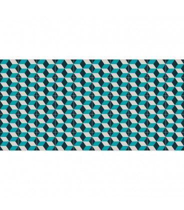 Mobelium Tapis De Vinyle Géométrique 143x97cm