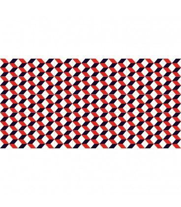 Mobelium Tapis De Vinyle Géométrique 97x48cm