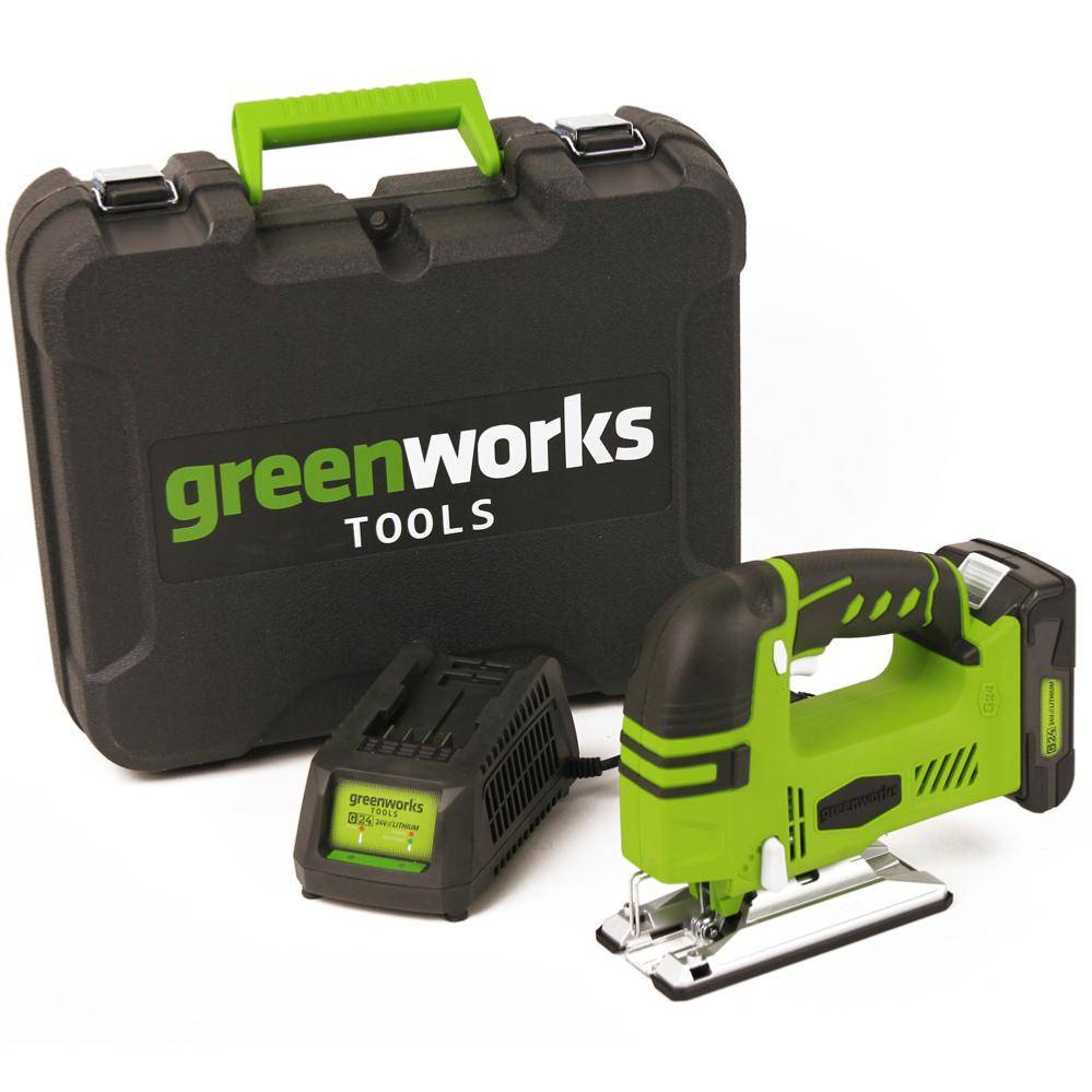 GREENWORKS Scie sauteuse sans fil GREENWORKS 24V avec batterie et chargeur -