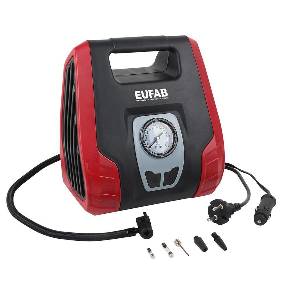 EUFAB Compresseur double puissance avec raccord 12V et 230V -